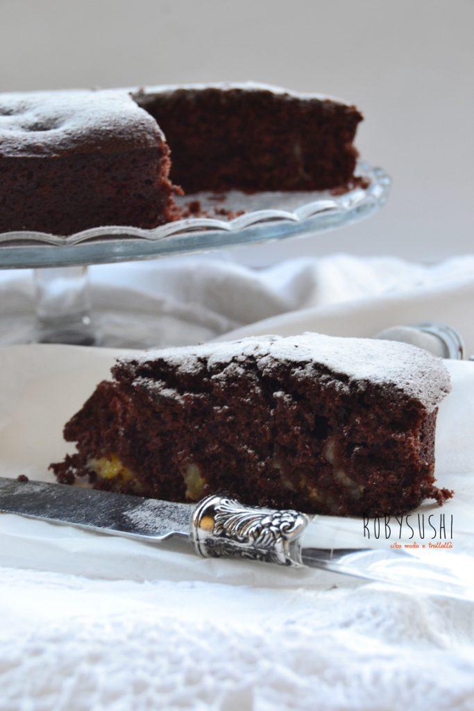 torta cioccolato e banane