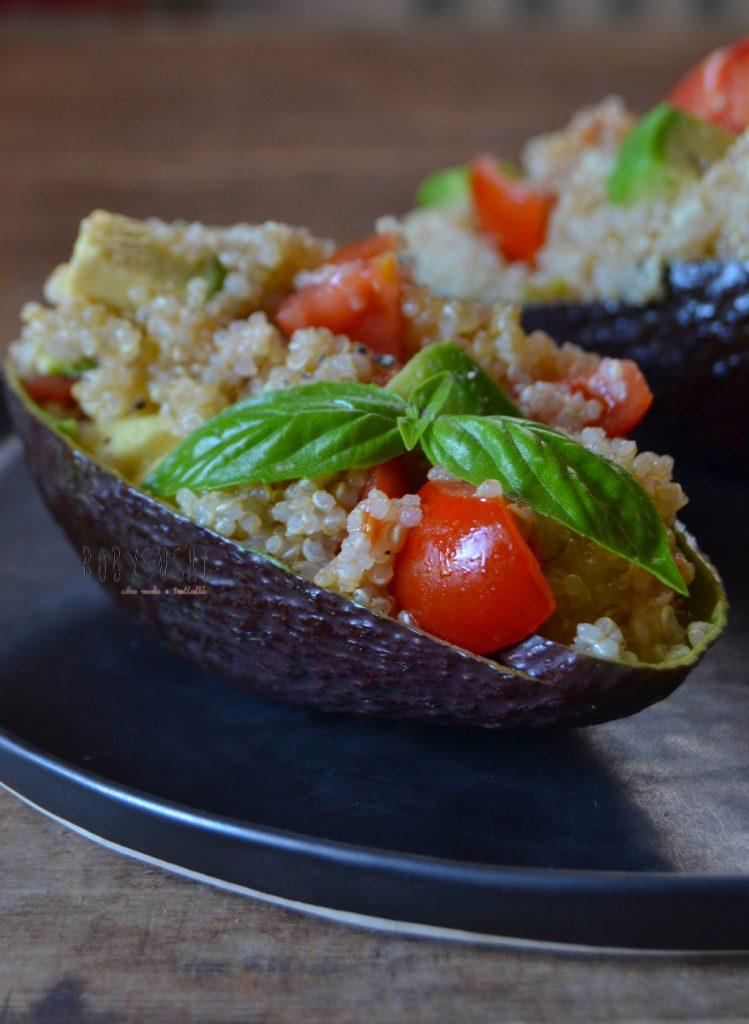 quinoa e gamberoni