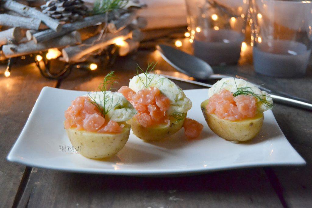 Antipasti Di Natale Con Il Salmone.Patate Con Salmone Al Finocchietto L Antipasto Per La Vigilia Di Natale