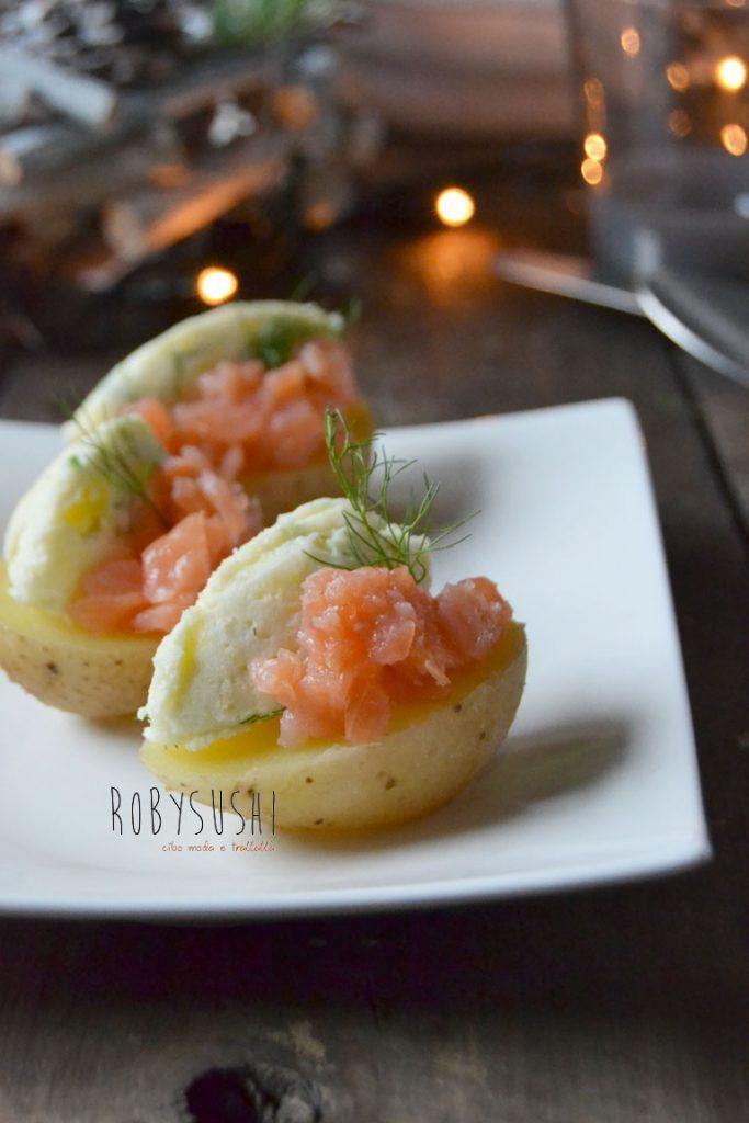 Patate con salmone