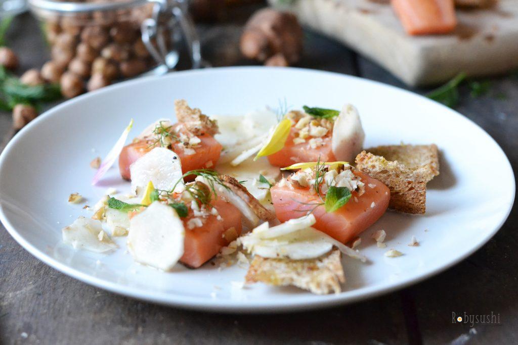Ricetta in 5 mosse: cubotti di trota salmonata con insalata di ...