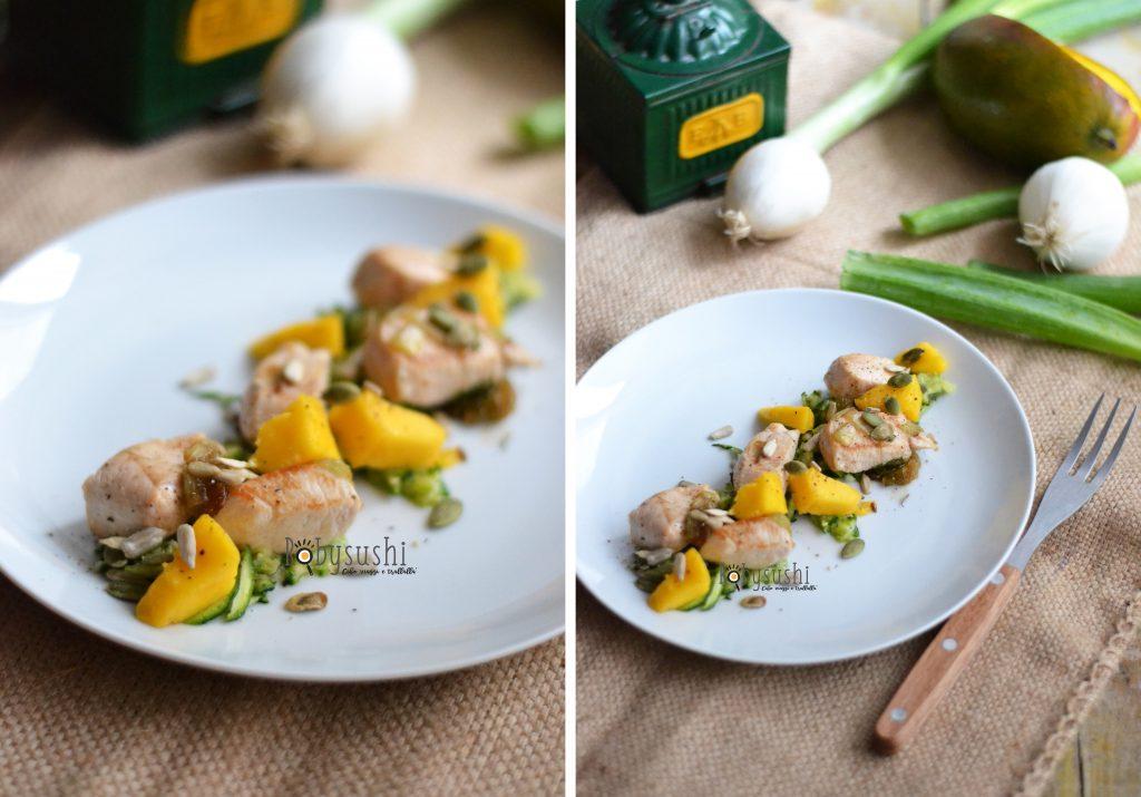 insalata di pollo con mango