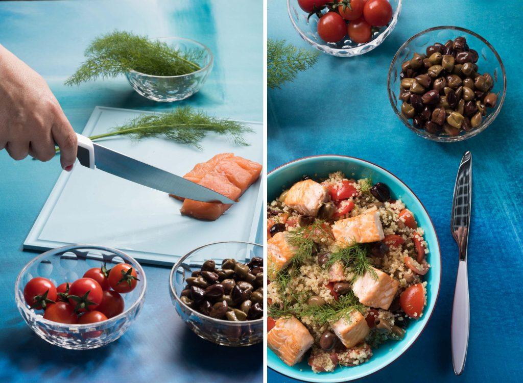 quinoa con salmone