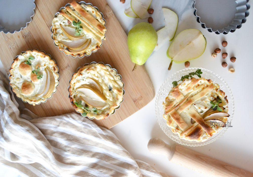 Torte Salate Con Caprino Pere Nocciole E Maggiorana