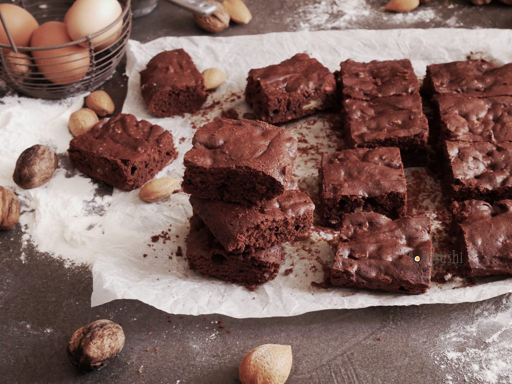 brownies con noci e mandorle