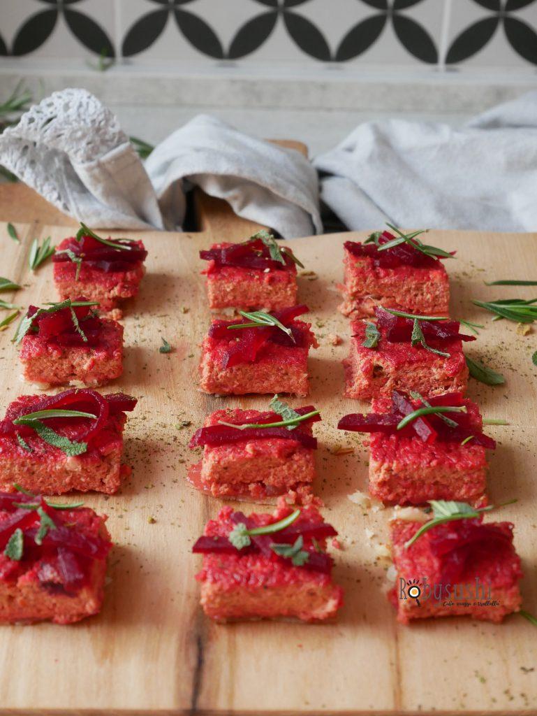 torta salata alla barbabietola