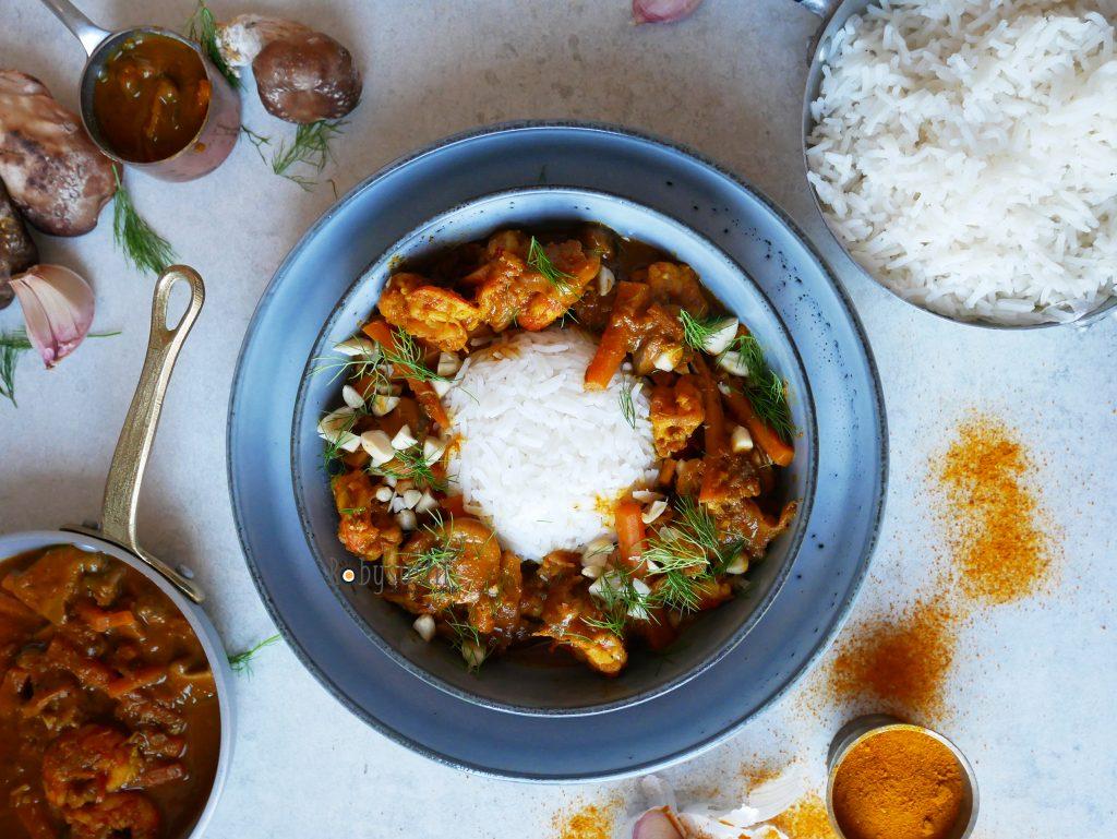 Curry di gamberi