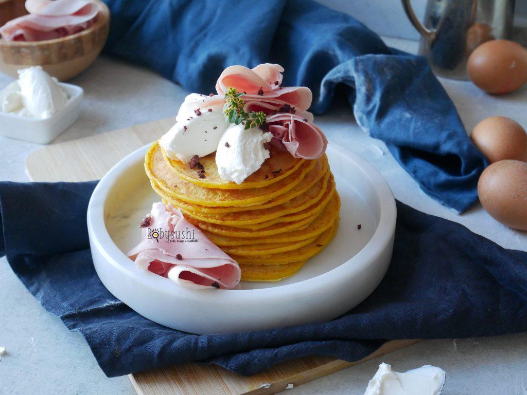 Pancake salati alla curcuma