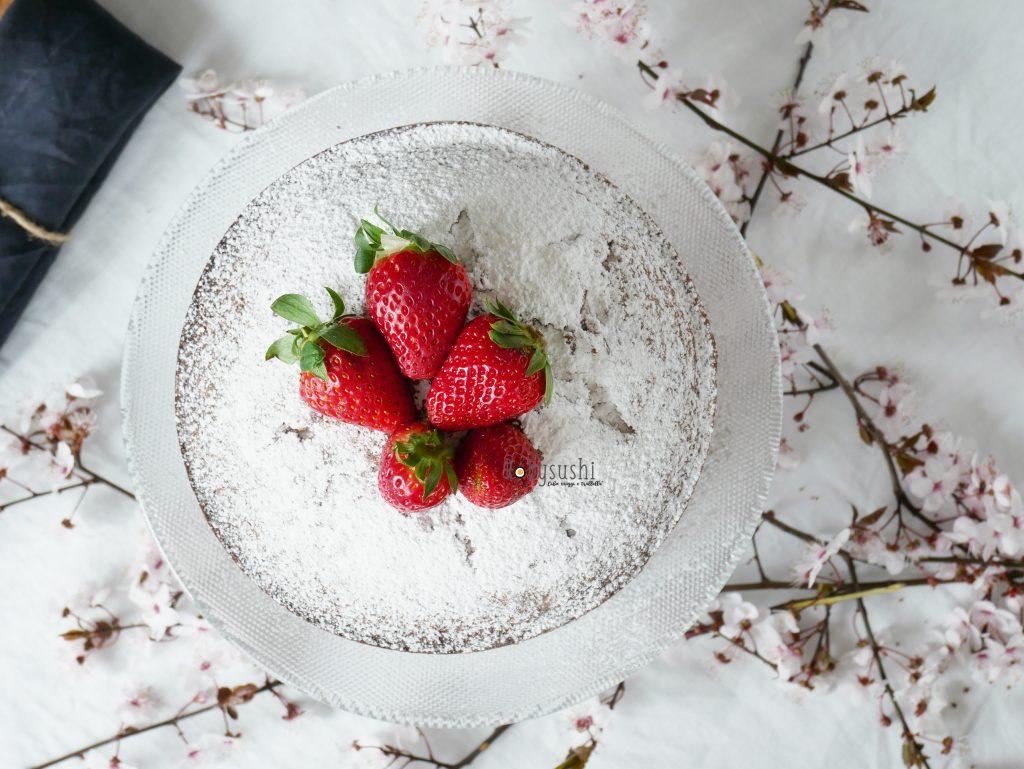 Torta morbida alle fragole